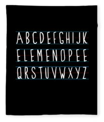 Alphabet Elemeno Fleece Blanket