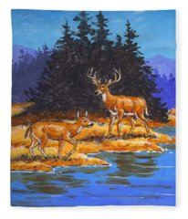 Alpine Refuge Sketch Fleece Blanket