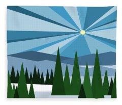 Alpine Winter Fleece Blanket