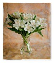 Alstroemeria Bouquet On Canvas Fleece Blanket