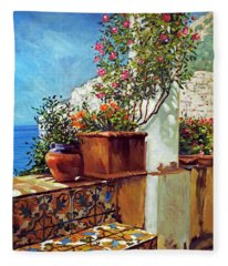 Amalfi Coast Impressions Fleece Blanket