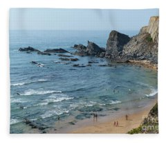 Amalia Beach From Cliffs Fleece Blanket
