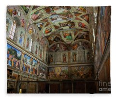 Amazing Ceiling Art Of The Sistine Chapel Fleece Blanket