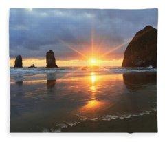Amazing Oregon Fleece Blanket