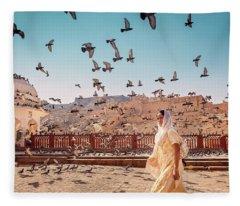 Amber Fortress Fleece Blanket