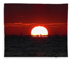 Amber Sky Fleece Blanket