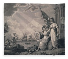America Guided By Wisdom Fleece Blanket