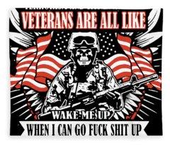 America Veteran Fleece Blanket