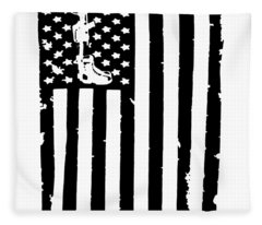 American Flag All Gave Some Some Gave All Remember Fallen Soldier Military Veteran Fleece Blanket