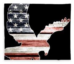 American Flag Patriotic Eagle Bird Animals Patriotic Fleece Blanket