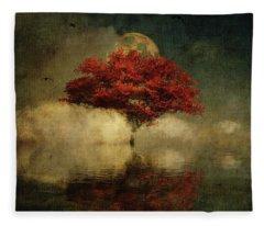 American Oak In A Dream Fleece Blanket