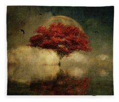 American Oak With Full Moon Fleece Blanket