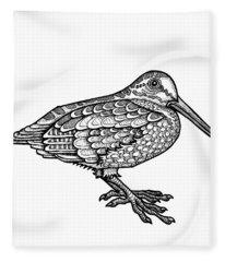 American Woodcock Fleece Blanket