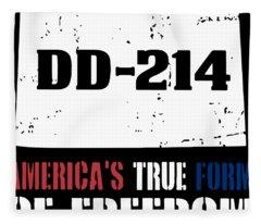 America_s True Form Of Freedome Dd 214 Veteran Fleece Blanket