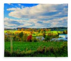 Amish Farm Beauty Fleece Blanket