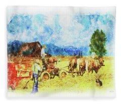 Amish Life Fleece Blanket