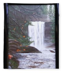 Ammonite Falls Fleece Blanket
