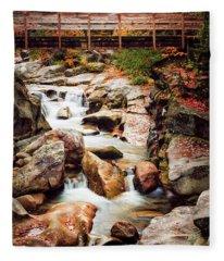 Ammonoosuc River, Autumn Fleece Blanket