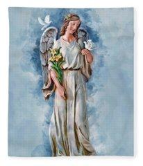 An Angels Love Fleece Blanket