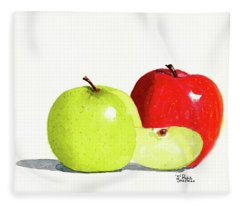 An Apple A Day Fleece Blanket