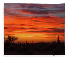 Fleece Blanket featuring the photograph An Arizona Sky by Rick Furmanek