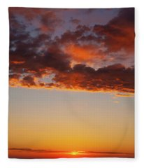 Fleece Blanket featuring the photograph An Oklahoma Sunsrise by Rick Furmanek