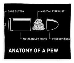 Anatomy Of A Pew Gun Rights Molon Labe Funny Pew Pew Life Mens Top Patriotic Fleece Blanket