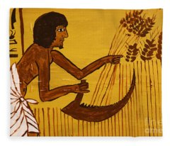 Ancient Egypt Farmer Fleece Blanket