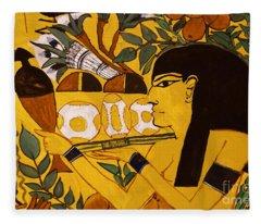Ancient Egypt Man Fleece Blanket