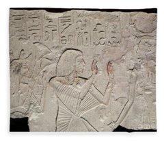 Ancient Egyptian Stele Fleece Blanket