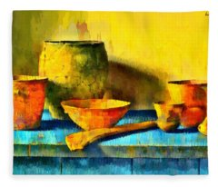 Ancient Kitchen Objects - Da Fleece Blanket