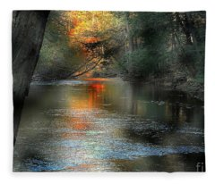 And Autumn Comes  Fleece Blanket