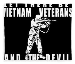 And God Said Let There Be Vietnam Veteran Fleece Blanket