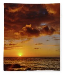 And Then The Sun Set Fleece Blanket