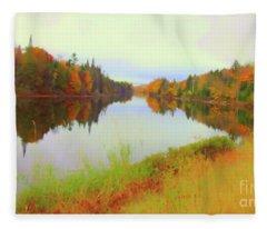 Androscoggin River, 13 Mile Woods Fleece Blanket