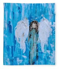 Angel Among Angels Fleece Blanket