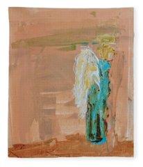Angel Boy In Time Out  Fleece Blanket
