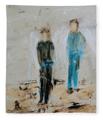 Angel Boys On A Dirt Road Fleece Blanket