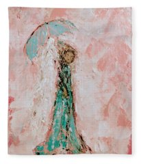Angel By Your Side Fleece Blanket