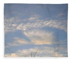 Angel In The Sky Fleece Blanket