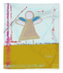Angel Of Grace Fleece Blanket