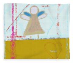 Angel Of Grace Fleece Blanket