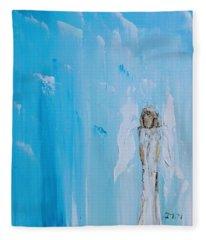 Angel Of Simplicity Fleece Blanket