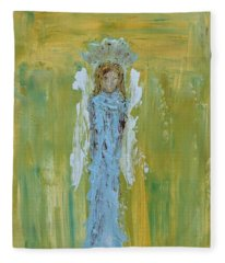 Angel Of Vision Fleece Blanket