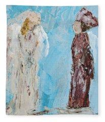 Angel Of Wisdom Fleece Blanket