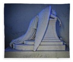 Angel Weeping Fleece Blanket