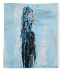 Angel With Child Fleece Blanket