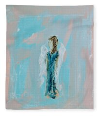 Angel With Character Fleece Blanket