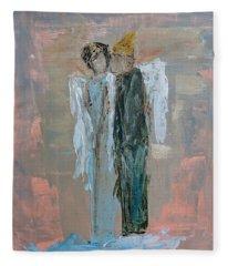 Angels In Love Fleece Blanket