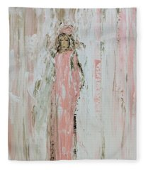 Angels In Pink Fleece Blanket